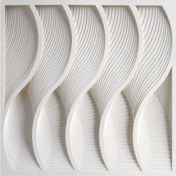 White wave pattern