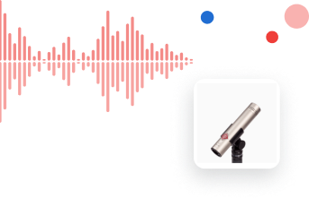 microphone and red waveform